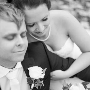 bröllop, svartvitt